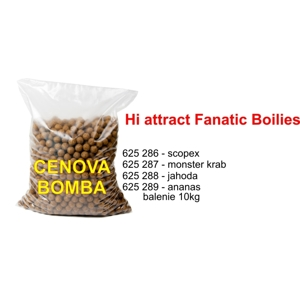 Hi Attract Fanatic boilies - 20mm - 10 kg