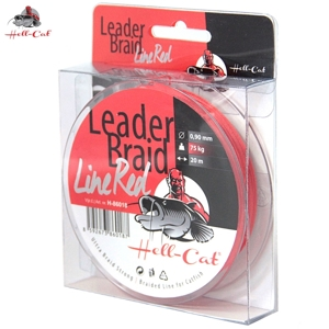 Návazcová šňůra Hell Cat-Leader Braid Line Red 1,40mm, 125kg, 20m