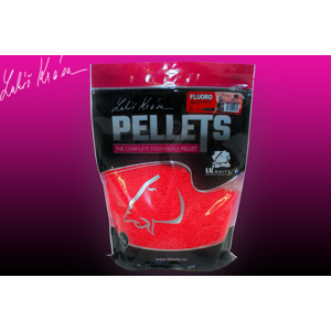 LK Baits Fluoro Pellets Wild Strawberry 1kg/4 mm