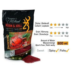 Browning Champion's Method Robin & Krill 1kg-red