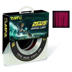 Black Cat Zeus Universal Leader 50m/110kg/0,80mm-red
