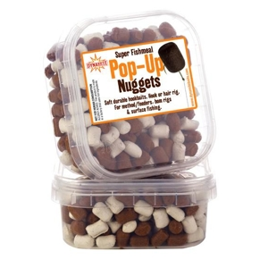 Dynamite Baits Pop-Up Nuggets Super Fishmeal Nuggets White/Brown